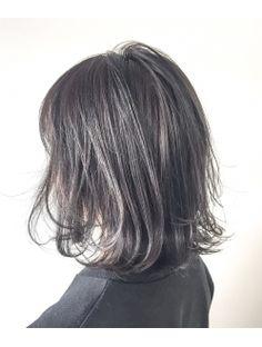 フェブヘアショップ(fev hair shop) 【fev_Ryo】切りっぱなしボブ×スケルトングレーハイライト