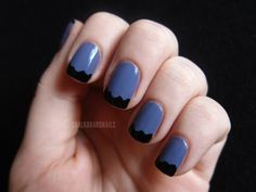 Hot Tips! 12 Ways to Amp Up a French Mani via Brit + Co.