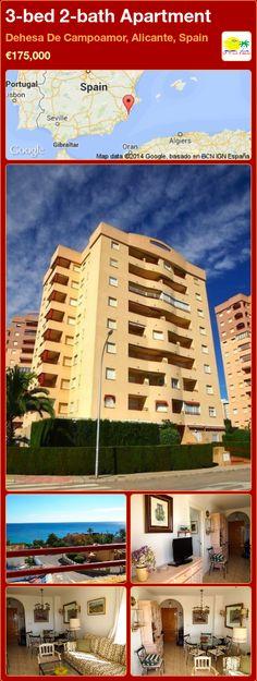 3-bed 2-bath Apartment for Sale in Dehesa De Campoamor, Alicante, Spain ►€175,000