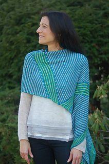 Jagged Little Shawl #knittingpattern by Mary Annarella (of Lyrical Knits)