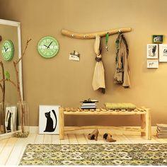 Garderobe AST Teakholz natur ca. L:100 x T:13 x H:15 cm