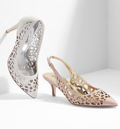 Perforated leather heels. The perfect finishing touch.
