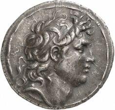 Tetradracma - argento - Antiochia di Siria (141-138 a.C.) - recto: Testa di Trifone (diadoco) con diadema, a dx -