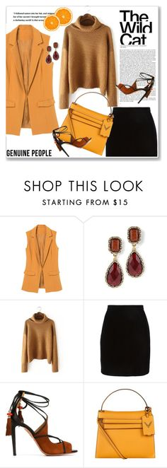 """""""GENUINE PEOPLE"""" by amra-mak ❤ liked on Polyvore featuring Thierry Mugler, Aquazzura, Valentino, women's clothing, women's fashion, women, female, woman, misses and juniors"""