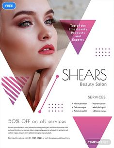 Invite people to the opening of your beauty salon with this elegant and stylish invitation template. Free to download, this makes use of high-quality layout and graphic files. It is also easy to edit and fully customizable.