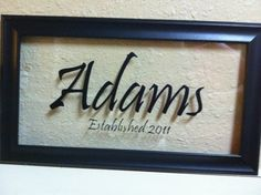 Glass Family Name Wall Hanging