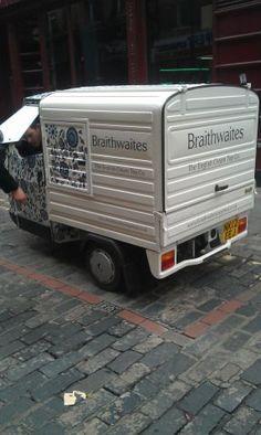Braithwaites - The English Cream Tea Company's mobile cream tea van in Soho, London