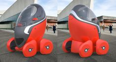 Bit bizarre but cool. The City Egg by Tomasz Mikrut is a car-share concept designed to make getting around the city a cinch. The compact vehicle accommodates a single passenger enclosed in a oval. Though it& small, the natural eg Electric Cars, Electric Vehicle, Cute Kids Pics, Texting While Driving, Credit Repair Services, Microsoft Surface Book, Custom Pc, Geek Gadgets, Yanko Design