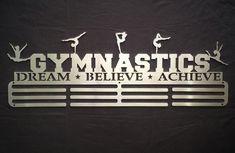 Gymnastics - Dream Believe Achieve Medal Hanger Medium 45 cm Triple Bar (copy) by SA Medal Hangers - Premier Medal Hanger designers