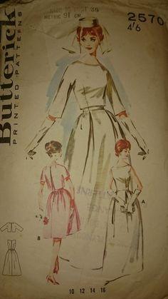 BUTTERICK 1950s WEDDING DRESS SEWING PATTERN.SIZE 16 - 36  BUST