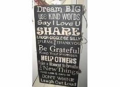 Family Rules Wooden Primitive Sign