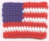 FREE American Flag Coaster free crochet pattern