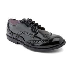 Burford, Black Patent Girls Lace-up Casual shoes http://www.startriteshoes.com/school-shoes/