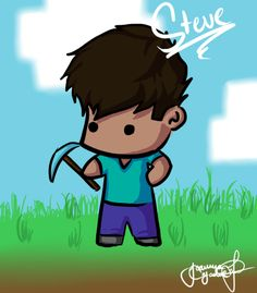 Drew a pic of Steve in the game Minecraft c: my version. Check out me drawing it: [link] sub if you can Minecraft drawing: Chibi steve Minecraft Mobs, Minecraft Fan Art, Minecraft Stuff, Castle Crashers, Minecraft Drawings, Legendary Creature, Skullgirls, Yandere Simulator, Indie Games