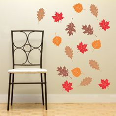 Autumn Leaves Wall Decals   Fall Decor On Etsy, $20.00