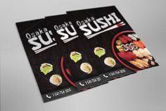 Sushi Flyer Template #Sushi #Flyer #Template #advertising https://creativemarket.com/StudioDixNeuf/537836-Sushi-Flyer-Template-Osaka-Sushi