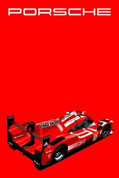 Porsche racing vehicle.    http://www.artofbrands.com/wo-en/car-art-porsche-919-red  #porsche #racing #art #artwork