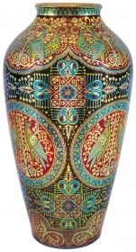 View Vase with Millenial Decor Desing by Hidasi by Zsolnay Co. Browse upcoming and past auction lots by Zsolnay Co. Art Nouveau, Rose Vase, Art For Art Sake, Porcelain Ceramics, Art Object, Tribal Art, Belle Epoque, Art Market, Pottery Art