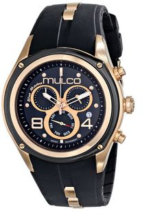 MULCO Blue Marine Analog Display Swiss Quartz Black Unisex Watch