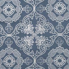 Maya in Evening Blue | Lulu DK #fabric #textiles #linen #embroidery #blue