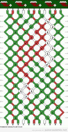 Patrones Pulseras | Pulseras de Hilo | Tutoriales para hacer pulseras de hilo encerado - Part 6