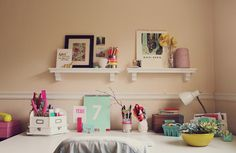 Cute and colorful office | At Home in Love