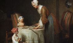 A detail from Grace at Table by Jean-Baptiste-Simeon Chardin, 1740