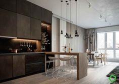 Расслабляющие цветовые схемы в трех эклетичных квартирах [с планами этажей]