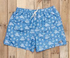 Southern Marsh Collection — The Dockside Swim Trunk - Anchors Bermudas Shorts, Swim Shorts, Casual Shorts, Men Shorts, Southern Marsh, Southern Pride, Southern Shirt, Boys Swimwear, Swimsuits