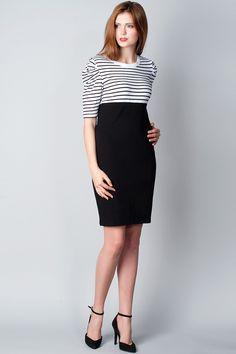 x Черно-белое платье платье B.Young