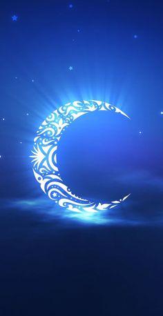 themagicfarawayttree: Blue crescent Moon