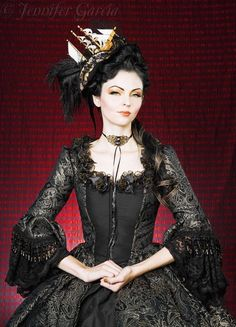 Gothic Brocade Marie Antoinette Fantasy Gown or Costume Custom