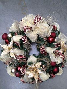 tulle xmas wreath...............