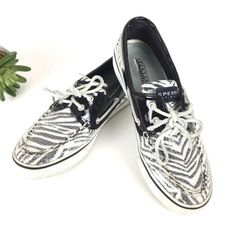 Sperry Shoes | Sperry Top Sider Zebra Stripe Sequin | Poshmark Sperry Shoes, Loafer Shoes, Loafers, Sequin Shoes, Sperry Top Sider, Keds, Sperrys, Boat Shoes, Sequins