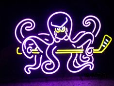 Detroit Red Wings Legend of the Neon Octopus Sign - NeonBobO.com