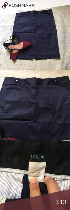 J.Crew Black Skirt Office J.crew Skirt with side pockets and back pockets. No wear marks! J. Crew Skirts