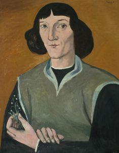 Portret Kopernika - autor Wojciech Fangor. Dar dla Oddziału PTMA w Warszawie.