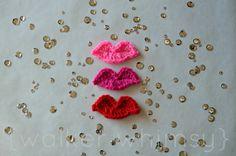 {walker whimsy}: Crochet Kissy Lips {14 Days of Fluffy Stuff}