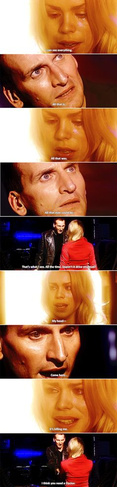 This. This is the doctor I like. Who cares more about rose then himself (and vice versa) to the point that he willing goes thru the pain of regeneration to save her. They loved each other so much that they were willing to give up their life for each other. I truly don't think he got the recognition he deserved