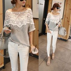 Weixinbuy Lady Lace Cape Collar Cutout Crochet Batwing Sleeve Tops Blouse for $6.91 - $10.99. Unique and cute<3 http://www.amazon.com/gp/product/B00MA6T116/ref=as_li_qf_sp_asin_il_tl?ie=UTF8&camp=1789&creative=9325&creativeASIN=B00MA6T116&linkCode=as2&tag=cheaphighfash-20&linkId=KBWAFLAVENJ2VE3I