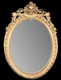 Legacy Antiques offer a great selection of French antiques, Italian antiques, and fine Mid-century furniture. Transitional Mirrors, Golden Mirror, Mirror Powder, Fireplace Mirror, Beautiful Mirrors, Art Carved, Mirror Art, Border Design, French Antiques