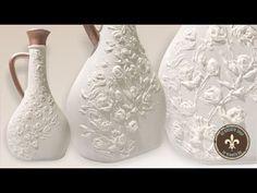 Recycling - vintage stílusú üveg modellező pasztával - YouTube