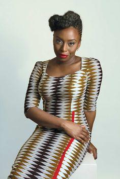 Writer Chimamanda Ngozi Adichie. Nigeria. Ankara. Wax Print. West African Fashion.