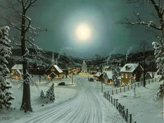 old fashioned christmas scenes Winter Christmas Scenes, Christmas Town, Old Fashioned Christmas, Christmas Music, Christmas Greetings, Vintage Christmas, Christmas Playlist, Winter Scenes, Merry Christmas