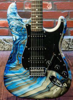 Swirled Fender Stratocaster