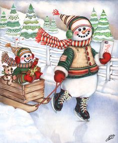"""""""Snowman Express"""" by Gloria West"""