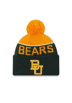 New Era Baylor Bears Green Ne 15 Sport Knit Hat
