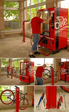The Repair-a-Bicycle vending machine