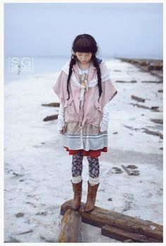 Love how all the different layers and patterns match up. mori girl