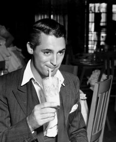 Cary Grant and a milkshake. What more can you want in life.